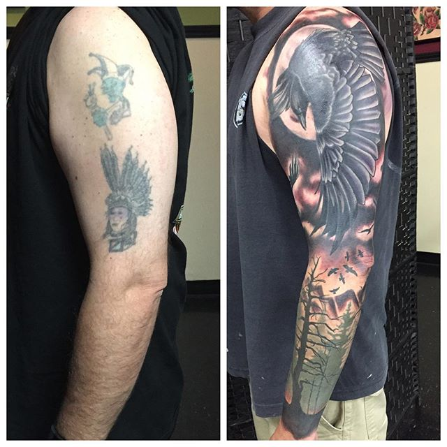 Cover up work #2015#tattoos #tattoo #coveruptattoo #blackandgreytattoo #jwtattoos