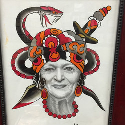 Instagram - Who's down to get a Betty White#tattoo #gypsyhead #bright_and_bold #