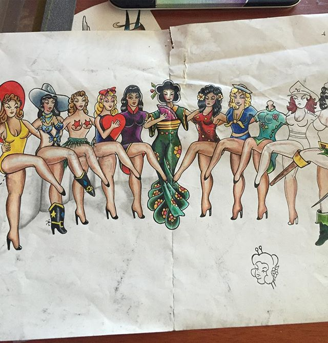 The og drawing#tattoos #tattooing #traditionaltattoo #sailorjerry #pinups _beccabaconbits