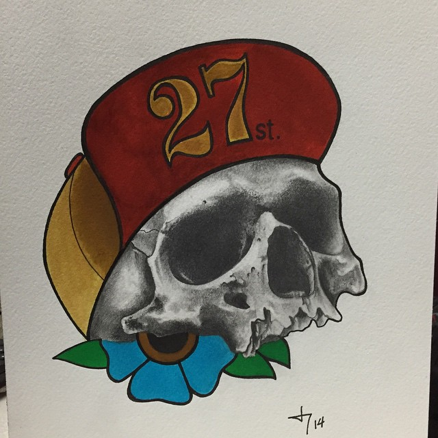 Instagram - #27thsttattoo #art #watercolor #illustration #mixedmedia