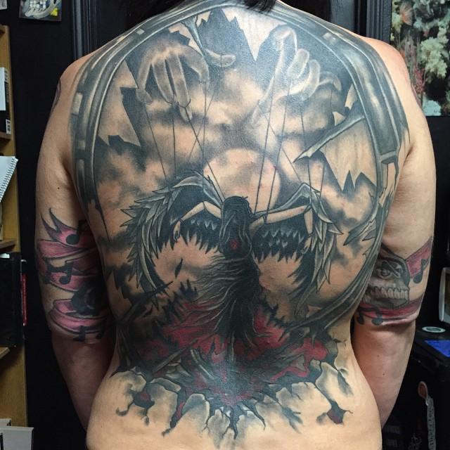 Healed picture #tattoos #tattoo #blackandgreytattoo #coveruptattoo#backtattoo #27thsttattoo