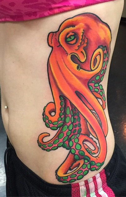 Instagram - Today's work #tattoos #tattoo #ribtattoo #octopustattoo #colortattoo