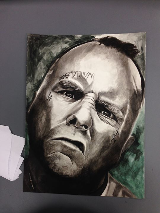 Facebook - watercolor painting of Jay Adams