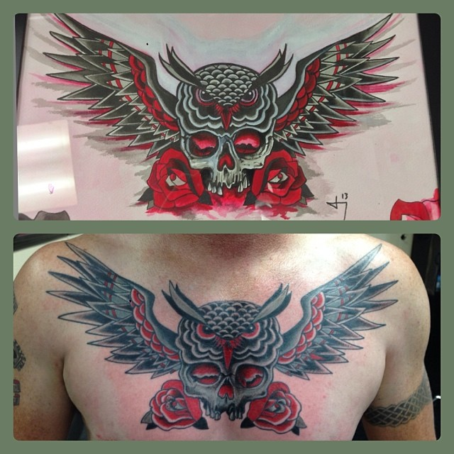 Instagram - #owltattoo #tattoo #27thsttattoo #chesttattoo