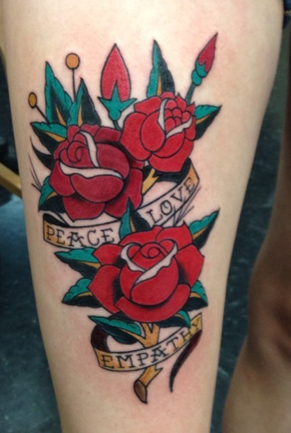 Instagram - Todays work#tattoos #tattoo #sailorjerry #roses #traditionaltattoo #