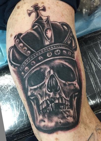 Instagram - Today's work #tattoos #tattoo #blackandgreytattoo #skulltattoo#crown