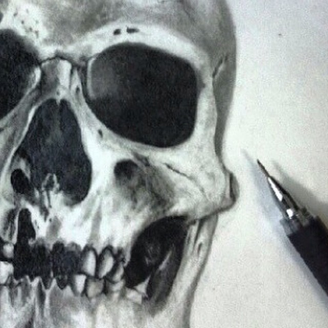 Instagram - Pencil practice #skull #art #pencildrawing #illustration #27thsttatt