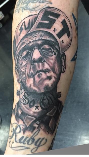 Instagram - Yesterday's work #tattoos #tattoo #blackandgreytattoos #frankenstein