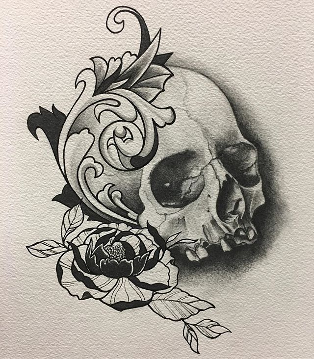 Finished drawing #sandiegotattooartist #drawing #skull#tattoos #pencildrawing