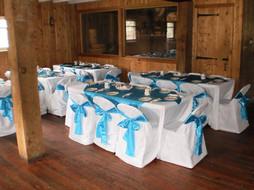 Wedding Reception in Blue & White