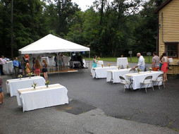 Outdoor Tented Reception (during setup)