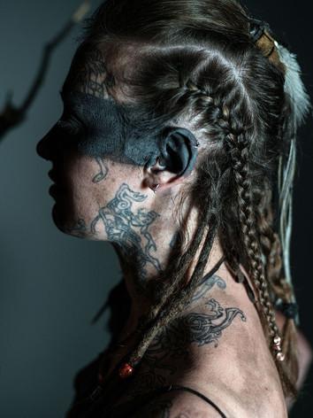 Face neck tattoos