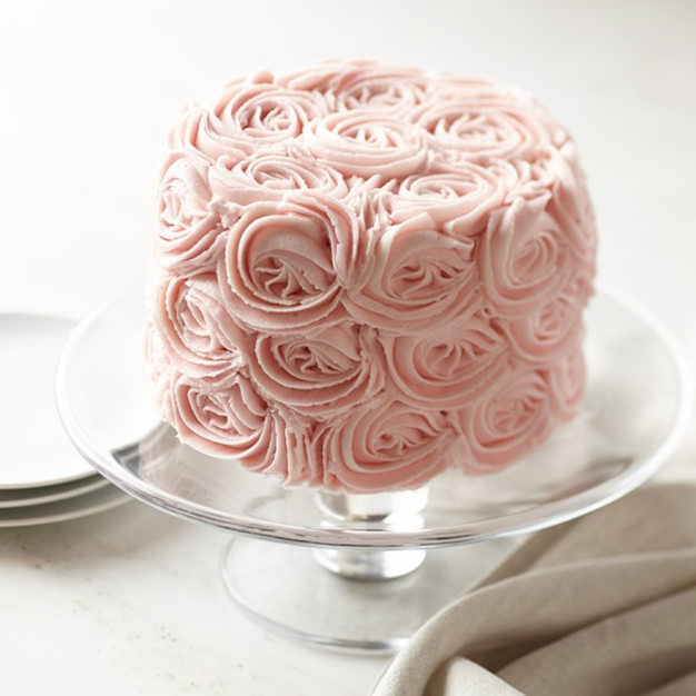 Williams Sonoma We Take the Cake Pink Rose Chocolate Layer Cake