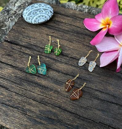 Sea glass Earring
