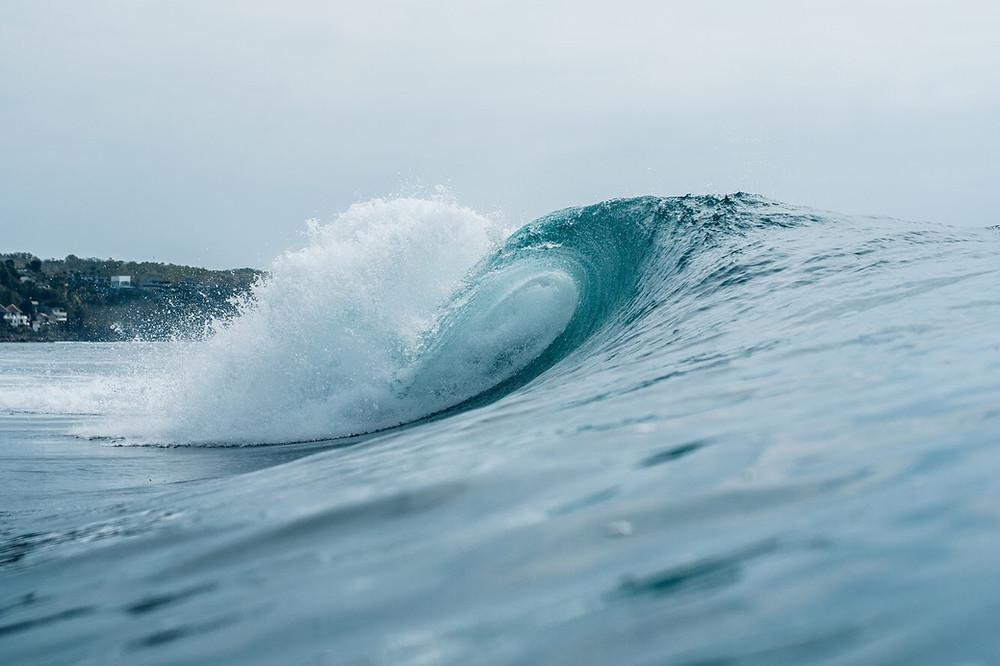 Barrel wave in Bingin