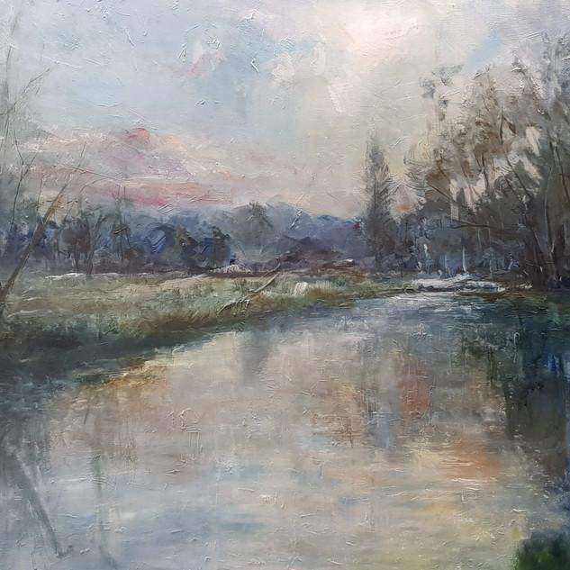 River Wey, dusk