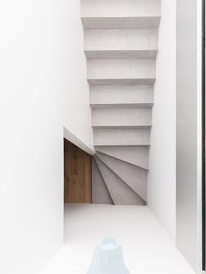 Escaliers beton cire Gris souris Photo M