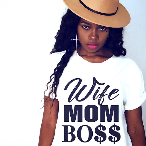 Wife Mom Boss - Jersey Tee