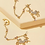 """Thumbnail: Rhinestoned """"Unicorn"""" Earrings with cuff attachment"""