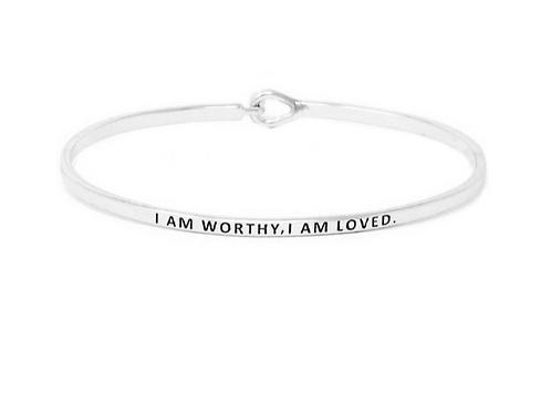 FRESH Bracelets - I Am Worthy I Am Loved - Brass/Silver