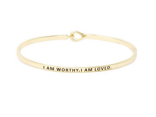 FRESH Bracelets - I Am Worthy I Am Loved - Brass/Gold