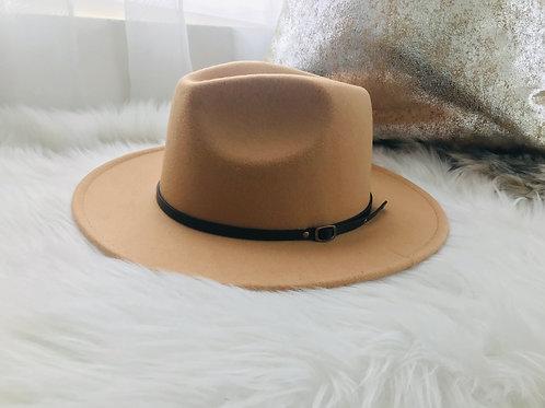 Slim Belted Fedora Hat