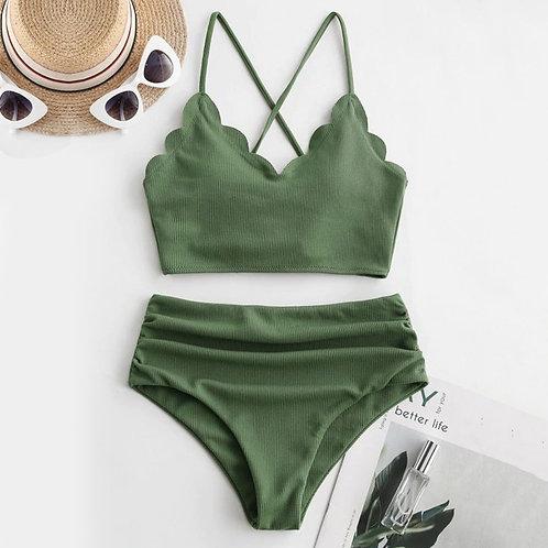 2pc Crisscross Swimsuit
