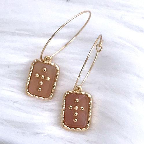 Cross Medallion Fashion Earrings