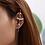 Thumbnail: Rhinestoned Cross Ear Bar Cuff