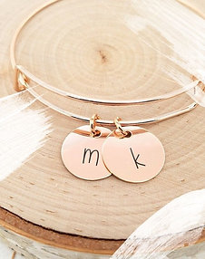 Customizable Rose Gold Bangle