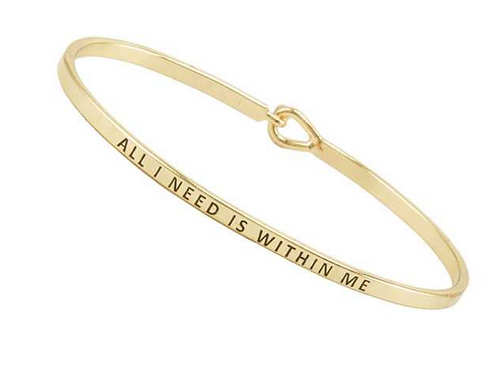 FRESH Bracelets - All I Need Is Within Me - Brass/Gold