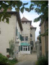 Chateau de Grilly main entrance