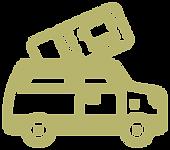 suv, camioneta y boleto de autobus turístico