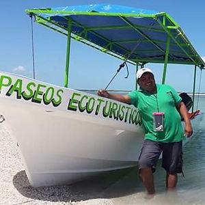 lancha para paseos ecoturísticos en isla valor campeche