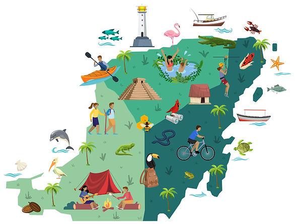 mapa de turismo comunitario campeche yucatán y quintana roo