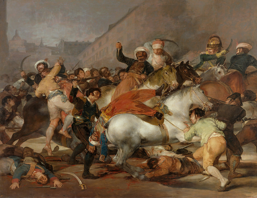 Cuadro Dos de Mayo de Francisco de Goya.