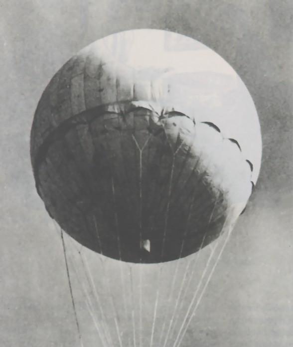 Uno de los globos con los que Japón atacó EE.UU. en secreto.