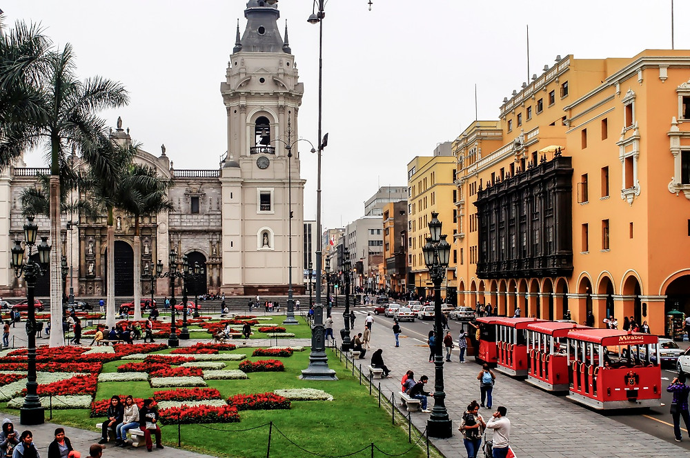 Zona colonial de Lima, Perú.