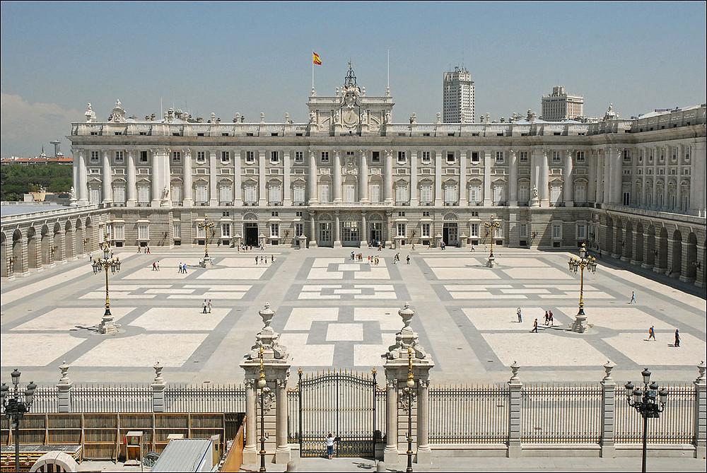 Fachada del Palacio Real de Madrid.