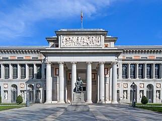 Fachada del Museo de El Prado en Madrid.