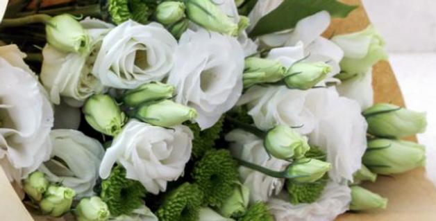 Bouquet de fleurs blanc à partir de