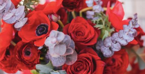 Bouquet de fleurs rouge à partir de