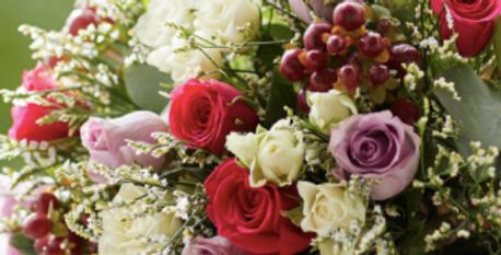 Bouquet de fleurs coloré à partir de