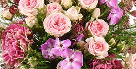 Bouquet de fleurs rose à partir de