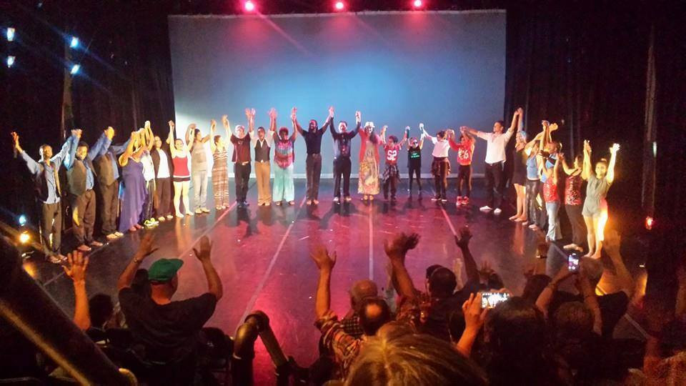 End of the show at the 2nd Bay Area Deaf Dance Festival
