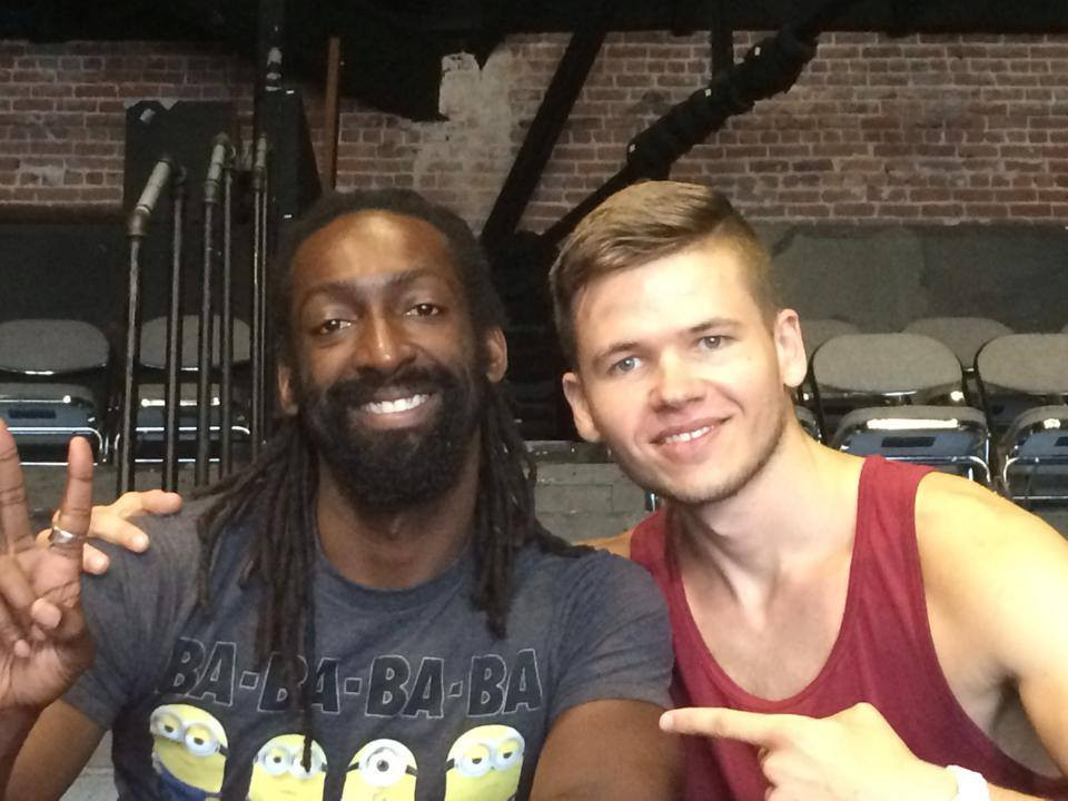 With Antoine Hunter in San Francisco, August 2014.