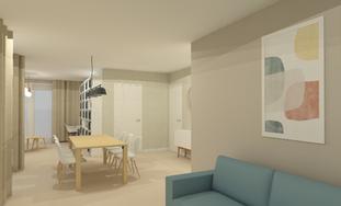 U-vormige woonkamer