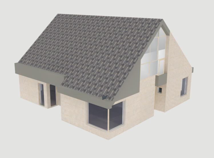 Nieuwe dakpannen en bekleding