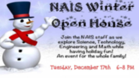 NAIS Winter Open House- STEM Activities.