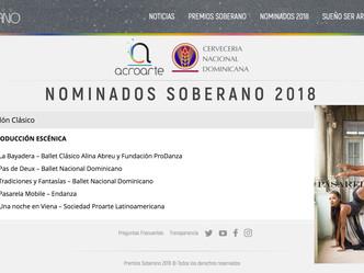Nominados @ Premios Soberano 2018